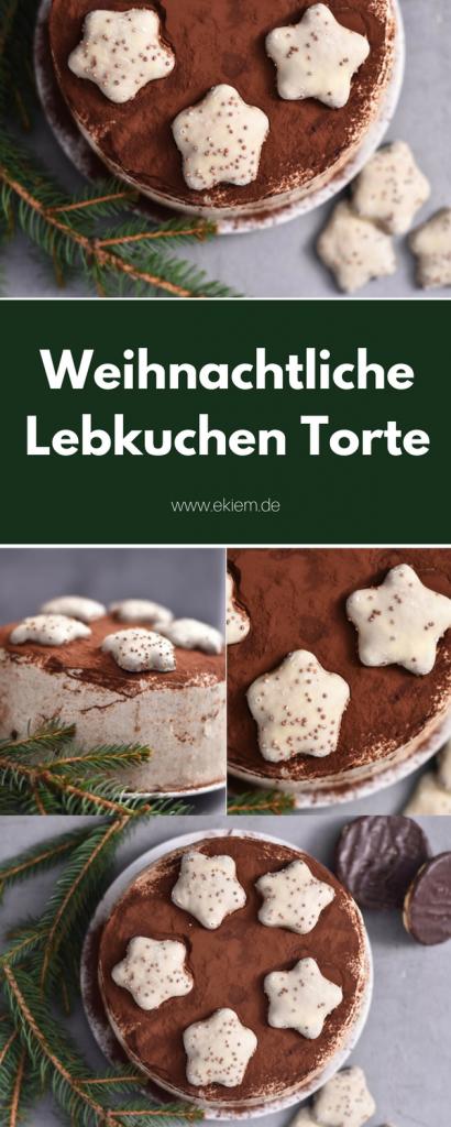 Weihnachtliche Lebkuchen Torte
