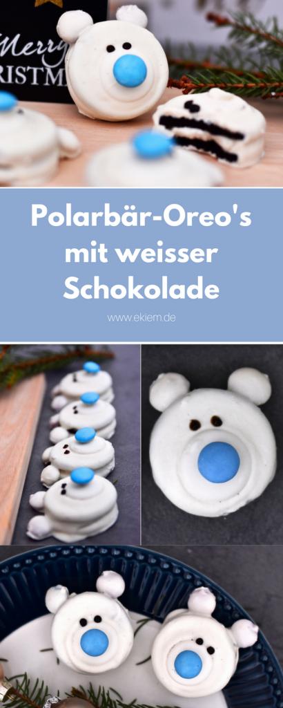 Polarbär-Oreo's mit weisser Schokolade