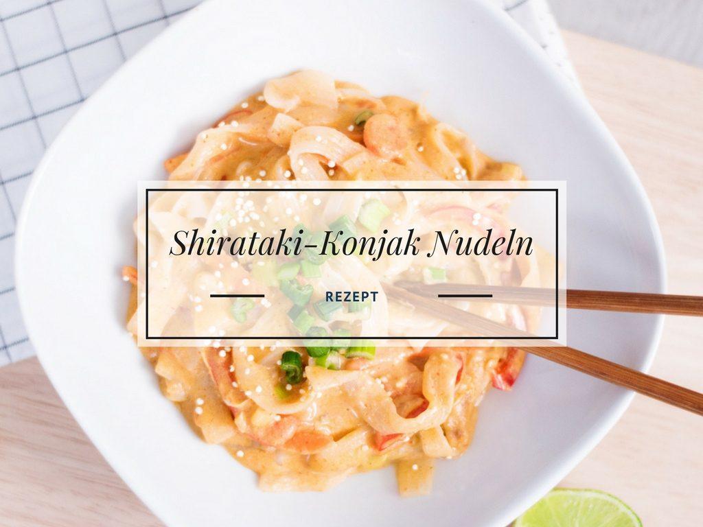 Shiratakit Nudeln mit Gemüse-Erdnusssoße Rezept